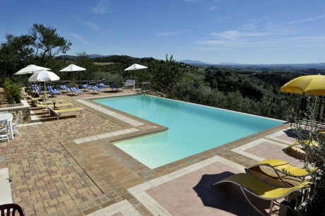 For the beautiful panoramic swimming pool looking at Valle del Tevere, Todi, Monti Sibillini